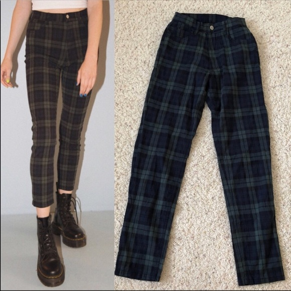 c33fc73bf9 Brandy Melville Plaid Jane Pant